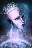 Sci-fi Portrait (PRINTS) by Lolita-Artz
