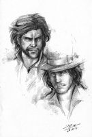 Wolverine and Gambit by PYdiyudie