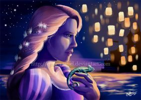 Rapunzel and the Lanterns by Queen-Uriel