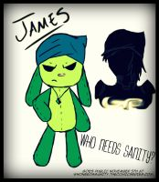 James in his Plushie Glory by kittykinetic
