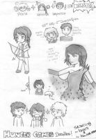The Hunger Games - Doodles by lauu7