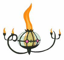 Shiny Chandelure by ilLIZtrator