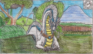 Dragon reading a book by Ikro2009