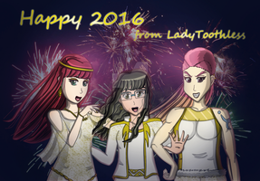 [All OCs] Happy 2016 from LadyToothless! by LadyToothless