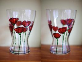Poppy vase by unnoticeable-me