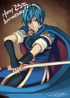 FE 25th Anniversary: Marth by birdzgoboom