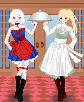 Hetalia- German Waitresses by SocietyMember