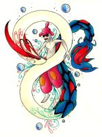 PC - Milotic and Medicham by Airaly