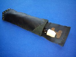 Small Leather Flute Holster 1 by Zarganath