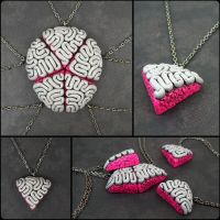 Custo Brainy BFF Necklace Set by beatblack