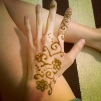 Henna hand tattoo by 3Rockstar3