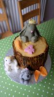 This years birthday cake... by OhLaso