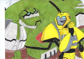 Bumblebee and Bulkhead TA by ailgara
