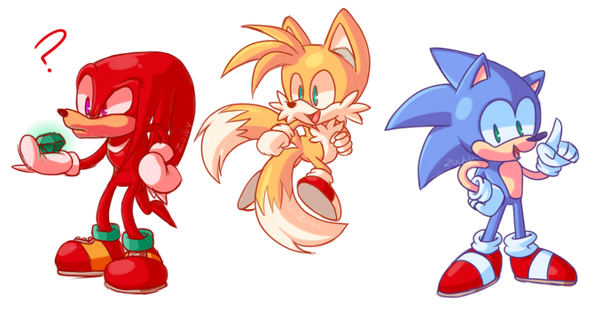 Sonic + friends by Zoiby