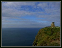 Tower Overlooking the Sea by Bladewing-Flash
