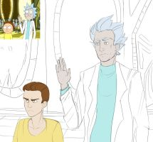 Rick and Morty redraw by OrcaLx