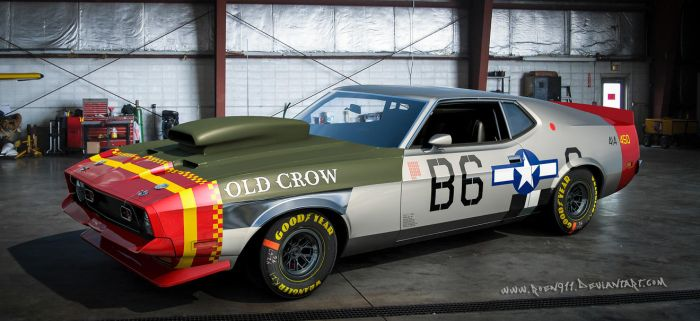 1973 Ford Mustang Mach 1 - Old Crow by rOEN911