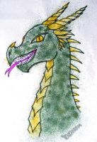 Airbrushed Green Dragon by DD7990