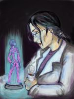 Cortana and Dr Halsey by jninja