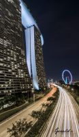 Light trails at MBS by geraldchew