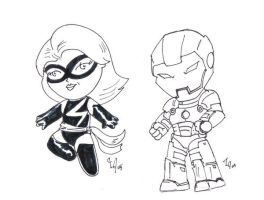 Ms. Marvel and Iron Man by Jason-Lee-Johnson