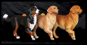 Breyer Companion Animals - Golden Retrievers by The-Toy-Chest