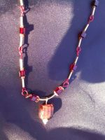 red and bronze necklace by Galasdian