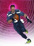 QB runner Power ball By artist Tom kelly by TomKellyART