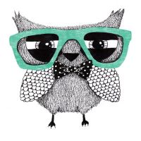 Hipster owl by Art-by-AnnaGrape