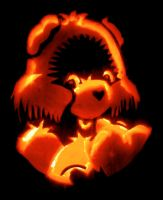 Care Bear Pumpkin by hondahb6