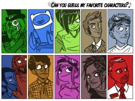 Favorite Characters Meme by DIN0LICH