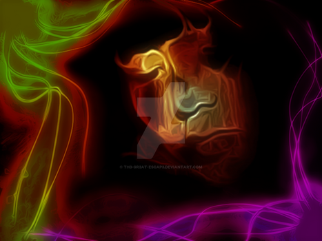Experimental Light Play Portrait by Th3-Gr3at-ESCap3
