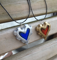 Steampunk Heart Necklace by Red-Bunn3h