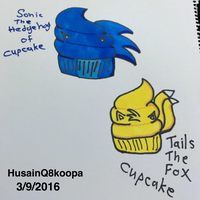 Sonic and Tails of cupcake by HuswserStar