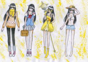 Hikari outfits by fatpear