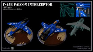F-45B Falcon Interceptor low-poly game vehicle by PandaProduction