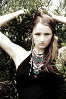 bohemian arms up sepia by Carolinel3