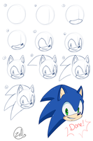 Sonic Head Tutorial by zeldaprincessgirl100