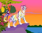 Rainbow Tiger by insectikette