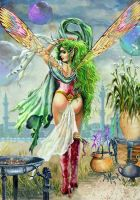 Green Haired Fairy by kimdemulder