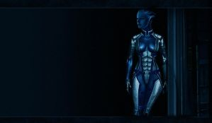 Liara Partly Armored by JCros