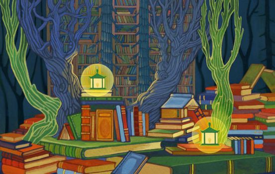 Forest Library by yanadhyana