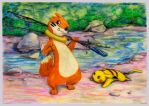 No Fishing Here Buizel by SSsilver-c