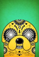 Jake Adventure Time Sugar Skull Poster - Green by PICKLEDLIVER
