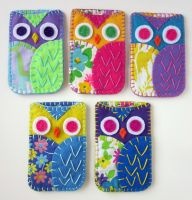 Owl Phone Cozies Felt by lovarevolutionary