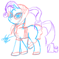 Rarity Camp Outfit Quick Sketch by stewi0001