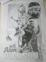 Allen Iverson Poster by KinKiat