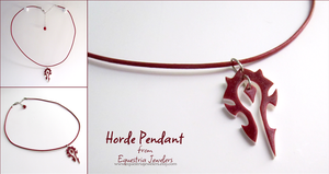 Horde Symbol Pendant Necklace by sterlingsilver
