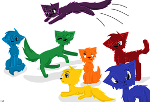 Cats of the Rainbow by Tinyclawthecat