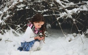 Child and snow by mohammadshadeed